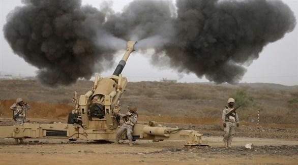 مدفعية الجيش الوطني اليمني تقصف مواقع حوثية (أرشيف)