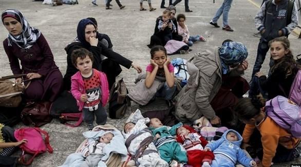 لاجئات سوريات مع أطفالهن (أرشيف)