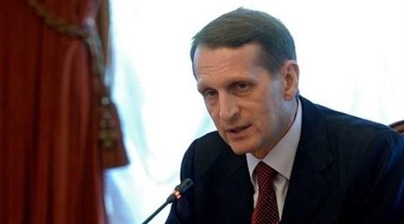 رئيس مصلحة الاستخبارات الخارجية الروسية، سيرغي ناريشكين (أرشيف)