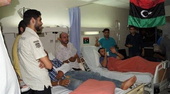 جرحى ومصابون ليبيون في أحد مستشفيات عمان (أرشيف)
