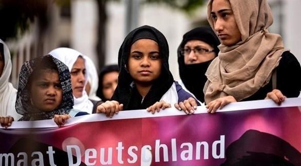 مسلمات في تظاهرة ضد الإسلاموفوبيا في ألمانيا (أرشيف)