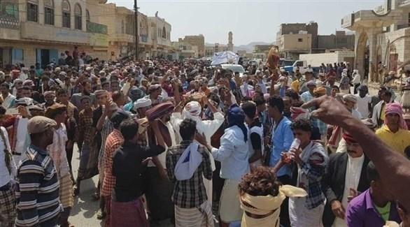 مظاهرات ضد الإخوان في سقطرى (من المصدر)