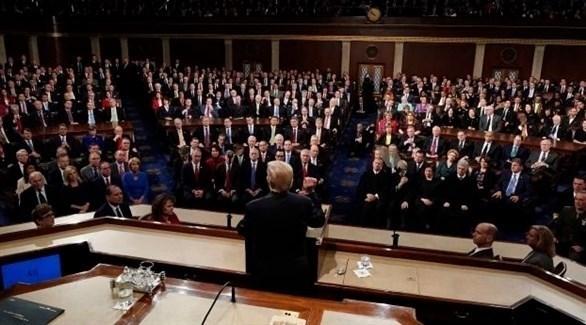 الرئيس الأمريكي ترامب وأعضاء مجلس النواب (أرشيف)