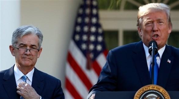 الرئيس الأمريكي ترامب ورئيس البنك المركزي باول (أرشيف)