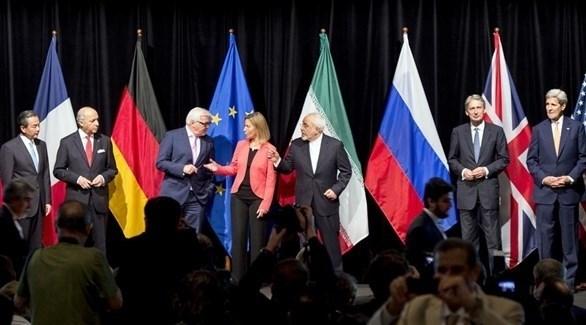 صورة جماعية لممثلي الدول التي وقعت الاتفاق النووي مع إيران في 2015 (أرشيف)