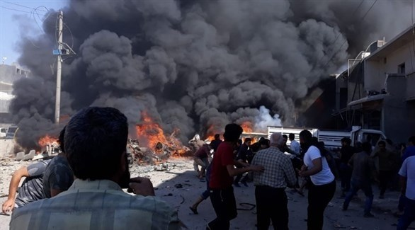 انفجار سابق في أعزاز السورية (أرشيف)