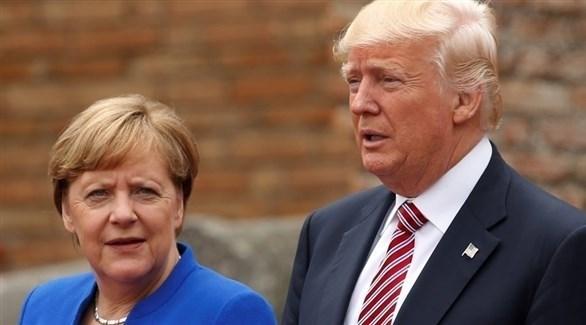 الرئيس الأمريكي دونالد ترامب والمستشارة الألمانية أنجيلا ميركل (أرشيف)