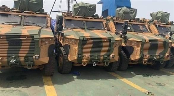 مدرعات تركية في ميناء ليبي لدعم حكومة الوفاق (أرشيف)