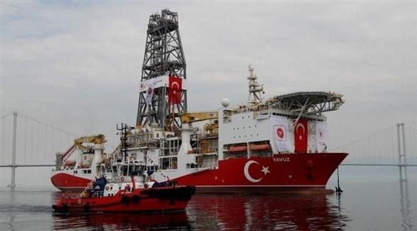 سفينة تركية للتنقيب عن الغاز قبالة السواحل القبرصية (رويترز)