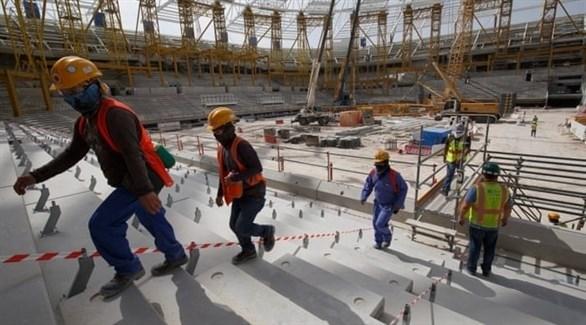 عمال قطاع البنى التحتية لكأس العالم في قطر (أرشيف)