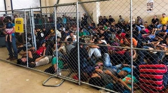 مركز احتجاز مهاجرن في الحدود الجنوبية للولايات المتحدة (أرشيف)