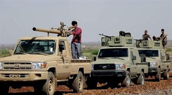 مركبات عسكرية تابعة للجيش اليمني (أرشيف)