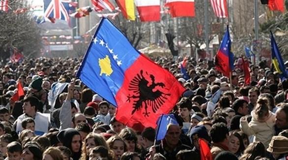 متظاهرون ألبان ضد صربيا في برشتينا (أرشيف)