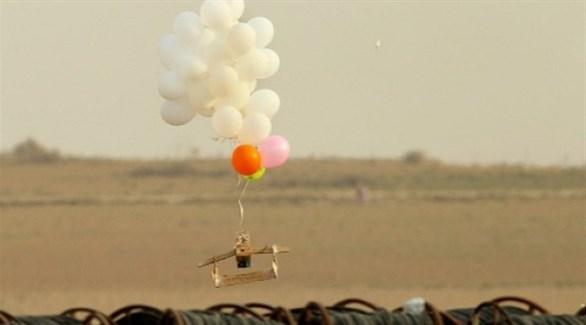بالون فلسطيني حارق (أرشيف)