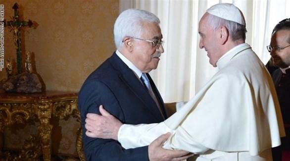 البابا فرنسيس والرئيس الفلسطيني محمود عباس (أرشيف)