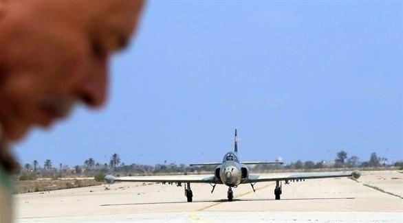 طائرة حربية تابعة لميلشيات الوفاق (أرشيف)