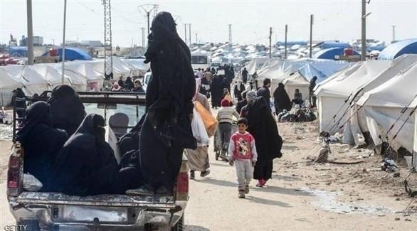 نساء وأطفال في مخيم الهول (أرشيف)