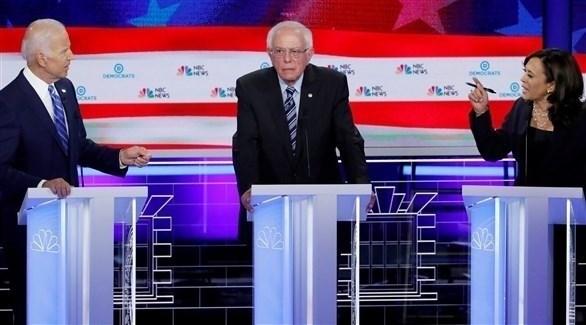 جانب من مناظرة جو بايدن وكامالا هاريس (سي إن إن)