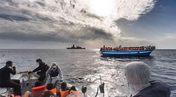 إنقاذ مهاجرين في البحر (أرشيف)