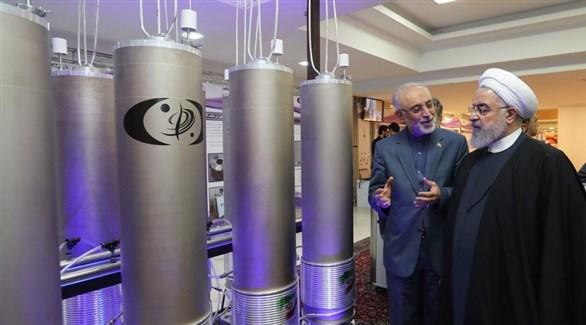 الرئيس الإيراني حسن روحاني في منشأة نووية (أرشيف)