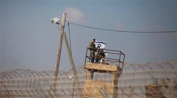 نقطة مراقبة إسرائيلية على الحدود مع غزة (أرشيف)