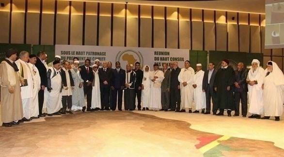 أعضاء من المجلس الأعلى للقبائل الليبية (بوابة أفريقيا)