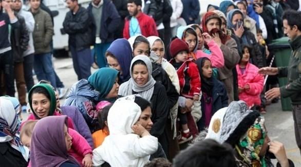 لاجئون في أحد مراكز الأوروبية (أرشيف)