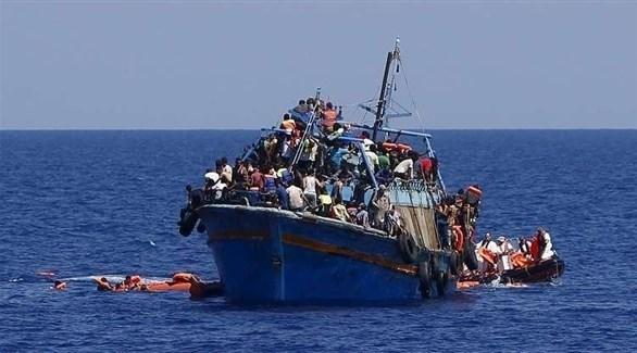 مركب مهاجرين غير شرعيين قرب سواحل تونس (أرشيف)
