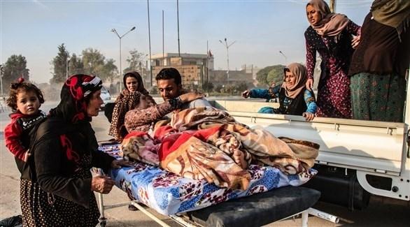 نزوح الأكراد من مناطق شمال شرق سوريا (تويتر)