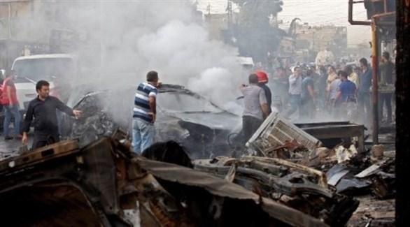 موقع اتفجار السيارة المفخخة (أ ف ب)