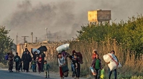 نزوح العائلات من شمال شرق سوريا (أرشيف)
