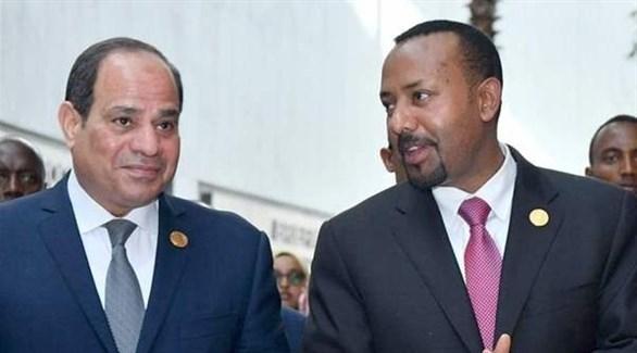 الرئيس المصري السيسي ورئيس الوزراء الأثيوبي أحمد (أرشيف)