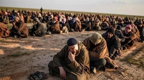 أسرى من داعش في الباغوز (أرشيف)