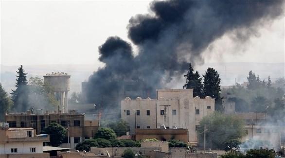 تصاعد الدخان في سوريا بعد غارة تركية (اي بي ايه)