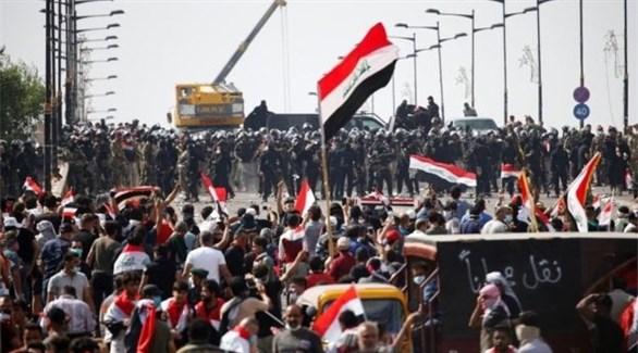 عراقيون يتظاهرون في بغداد (أرشيف)