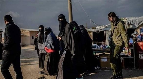 داعشيات في مخيم شمال سوريا (أرشيف)