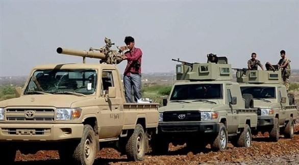 عربات عسكرية تابعة للجيش الوطني اليمني (ارشيف)