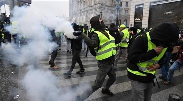 محتجون من السترات الصفراء في العاصمة الفرنسية باريس (أرشيف)