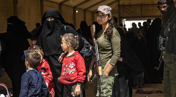 أطفال أجانب في معسكر اعتقال عائلات مقاتلي داعش في سوريا (أرشيف)