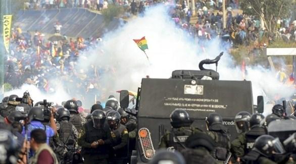 متظاهرون يشتبكون مع قوات الأمن في بوليفيا (أرشيف)