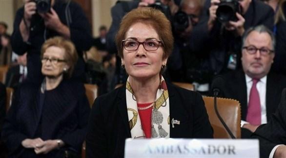 السفيرة الأمريكية السابقة لدى أوكرانيا ماري يوفانوفيتش (أرشيف)