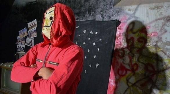 فنان عراقي أثناء تصوير الفيديو كليب (أرشيف)