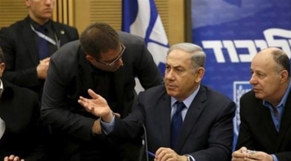 بنيامين نتانياهو خلال اجتماع مع قادة أحزاب اليمن في إسرائيل (أرشيف)