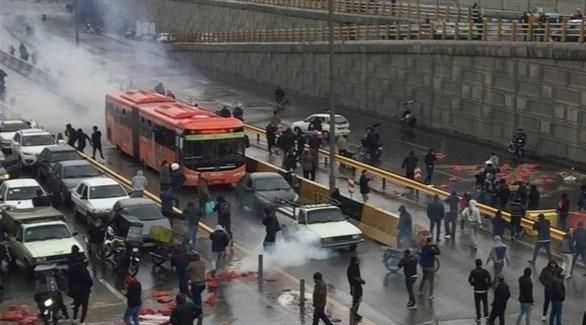 جانب من الاحتجاجات في إيران (أرشيف)