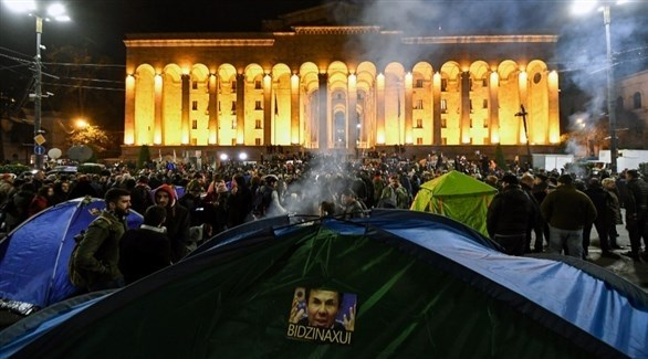 مظاهرات أمام البرلمان في جورجيا (أرشيف)
