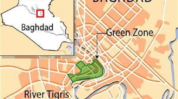 خريطة للمنطقة الخضراء في بغداد (رويترز)