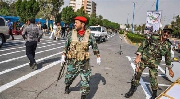 عناصر من الحرس الثوري الإيراني في عملية سابقة (أرشيف)