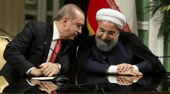 الرئيسان الإيراني حسن روحاني والتركي رجب طيب أردوغان (أ ف ب)