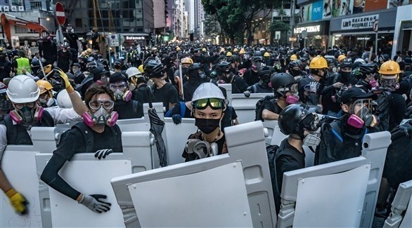 محتجون في هونغ كونغ (أرشيف)