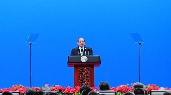 الرئيس المصري عبد الفتاح السيسي في قمة العشرين أفريقيا اليوم ببرلين (تويتر)